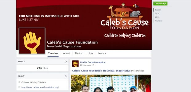 Caleb's Cause Foundation Facebook