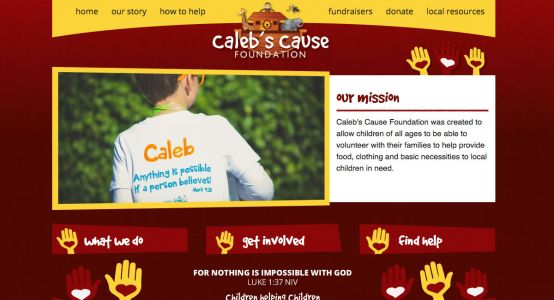 Caleb's Cause Foundation Standard Website