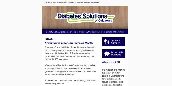 Diabetes Solutions Email Newsletter