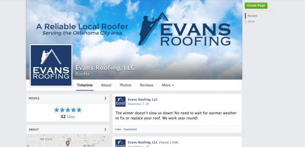 Evans Roofing Facebook