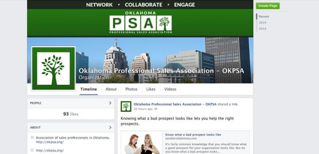 Oklahoma Professional Sales Association Facebook