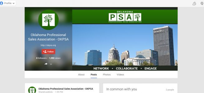 Oklahoma Professional Sales Association Google+