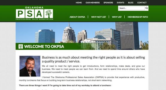 Oklahoma Professional Sales Association Standard Website