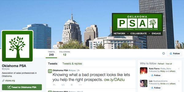 Oklahoma Professional Sales Association Twitter