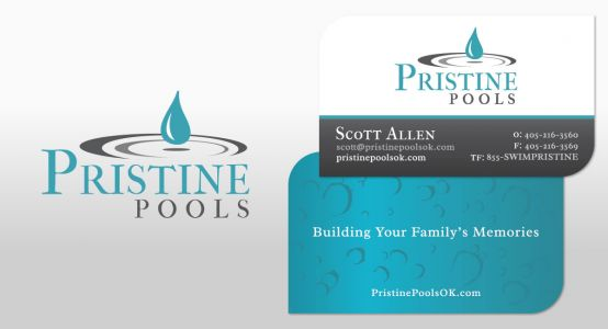 Pristine Pools Logo & Print Work