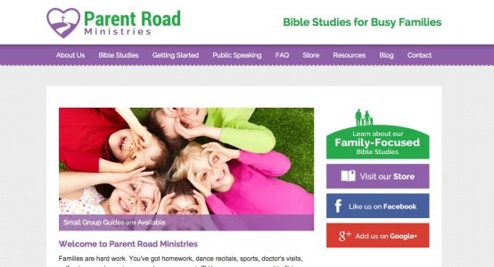 Parent Road Ministries Starter Website