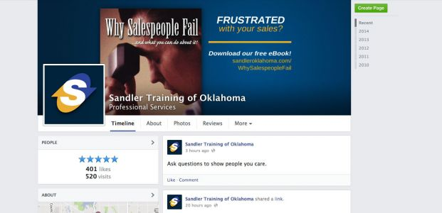 Sandler Training of Oklahoma Facebook