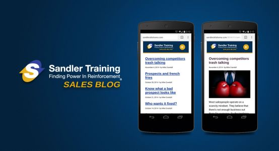 Sandler Training of Oklahoma Mobile Website