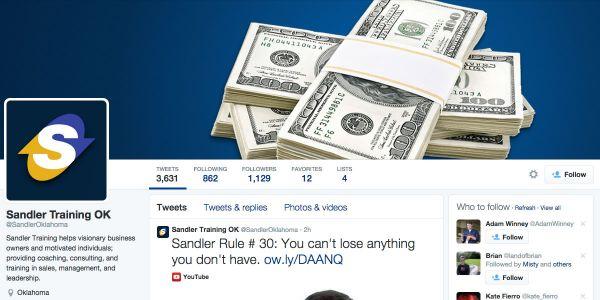 Sandler Training of Oklahoma Twitter