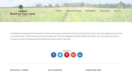 Build On Your Land Oklahoma Starter Website