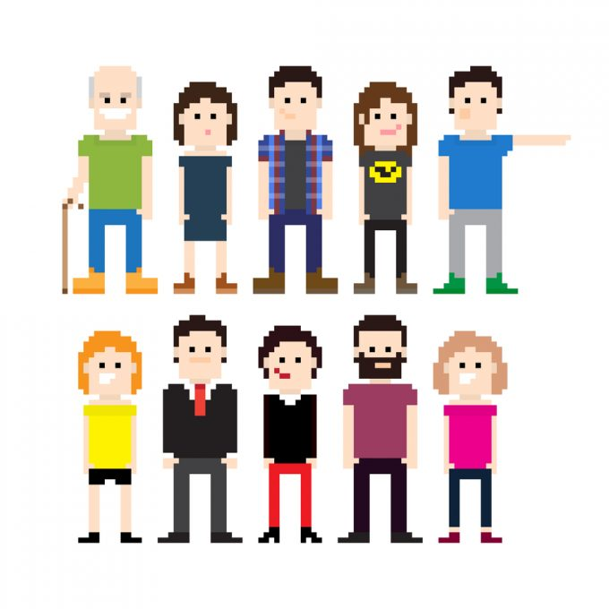 Pixelized people