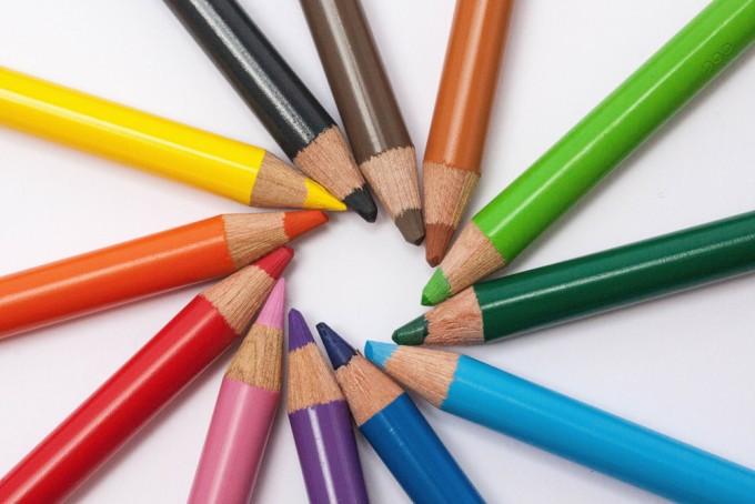 Creative colorful pencils