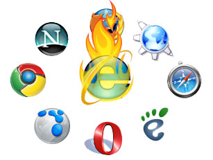 Internet Explorer on fire