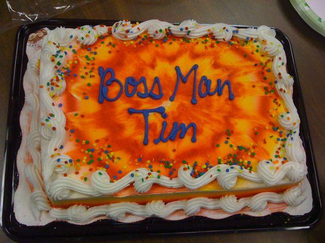 Boss Man Tim cake