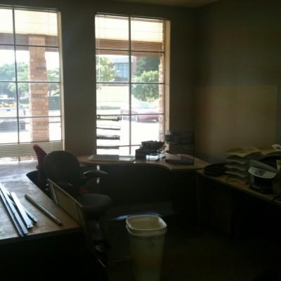 Desks by windows