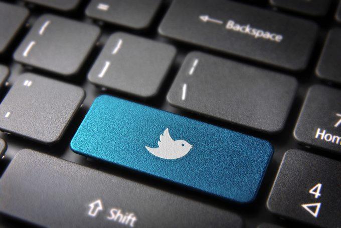 Twitter key on keyboard