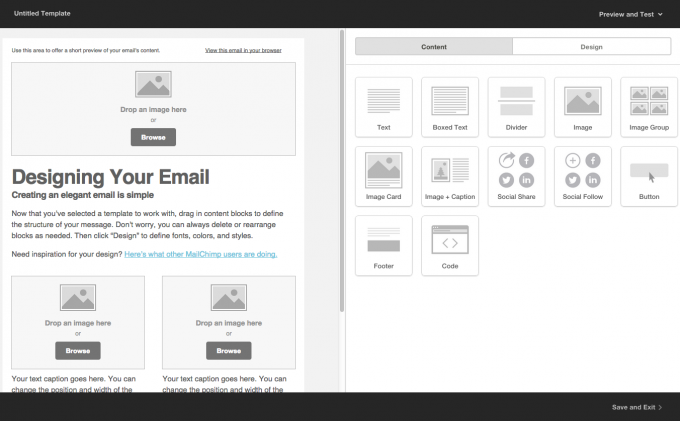 Creating Your MailChimp Template TS Online Marketing - Drag and drop mailchimp templates
