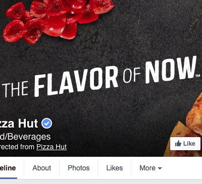 Pizza Hut Facebook Cover Photo