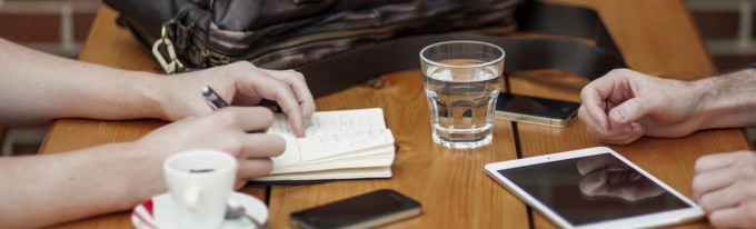 Meeting with Drinks & Notes