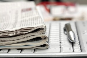 Newspaper-on-keyboard