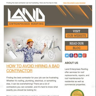 Land Roofing Newsletter