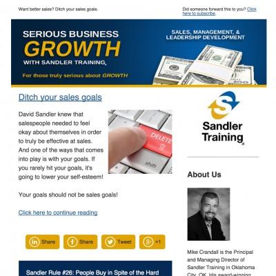 Sandler Training of Oklahoma Newsletter