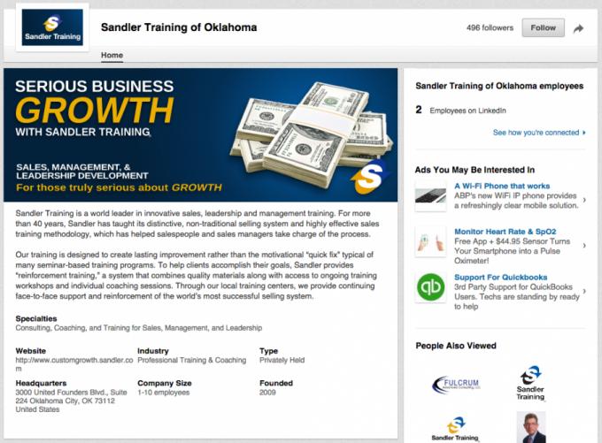 Sandler Oklahoma LinkedIn
