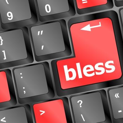 Bless key on keyboard