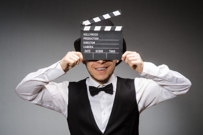 Director with clapboard