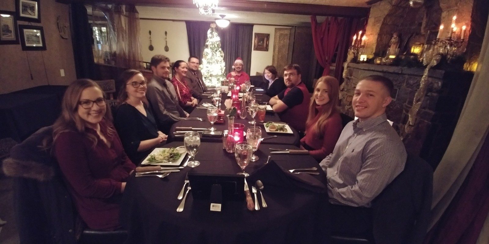 The T&S crew celebrate Christmas 2017 at Castle Falls in Oklahoma City.